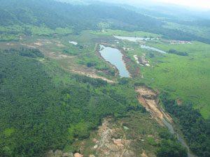Gold Mining Inc. Sao Jorge project panoramic view