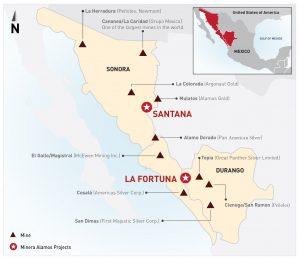 mMinera Alamos project map