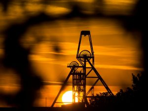 Cornish Metals South Crofty headframe at sunset - By kind permission of Greg Martin - Cornwall Live