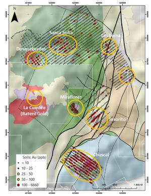 Los Cerros Quinchia project map