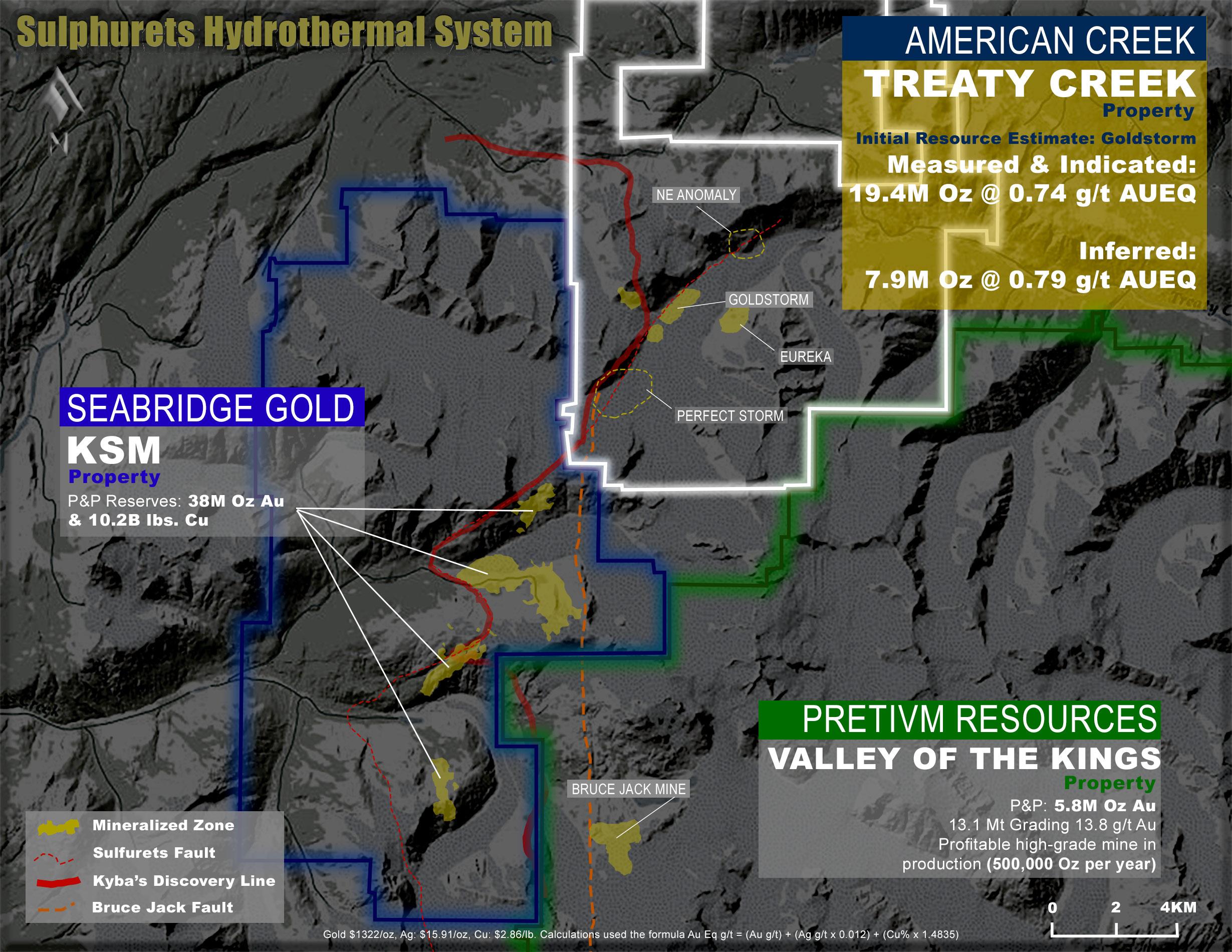 American Creek Treaty Creek map