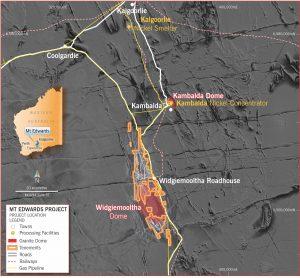 Neometals Mt. Edwards Nickel Project map