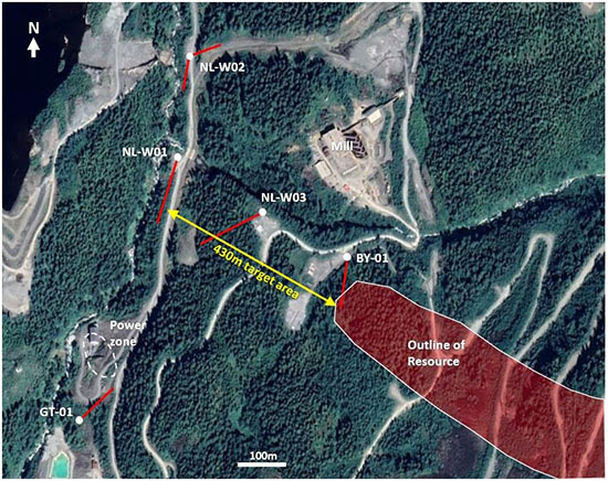Ascot Resources drill map for summer 2021 campaign, Golden Triangle, British Columbia