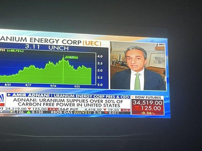 UEC CEO Amir Adnani on Fox Business TV